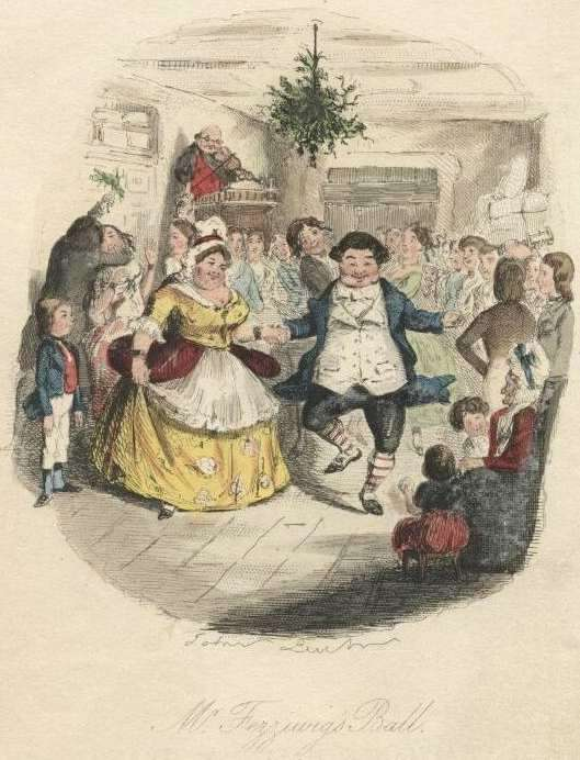 Mr. Fezziwig's Ball, John Leech